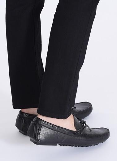 D by Divarese Deri Loafer Ayakkabı Siyah